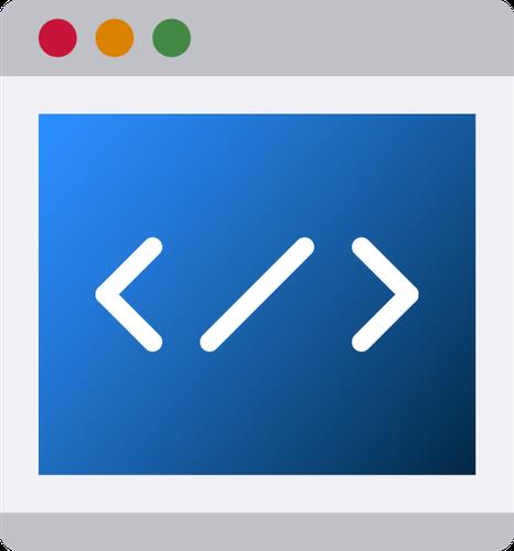 Computer window with code